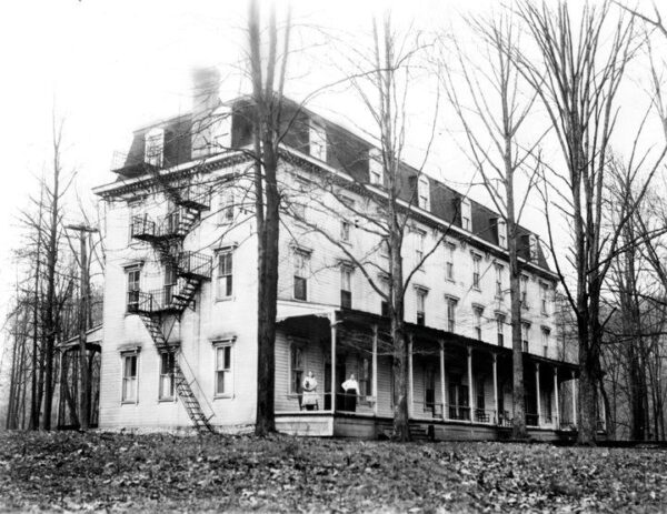 Historic photo of the Ferncliff Hotel in Ohiopyle Pennsylvania