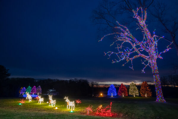 Christmas display at the Herr's Holiday Lights in Chester County Pennsylvania
