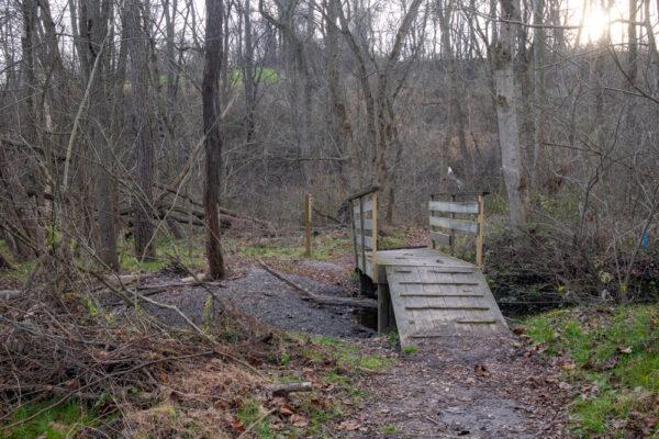 Bridge on the Pond Trail in Silver Mine Park near Lancaster PA