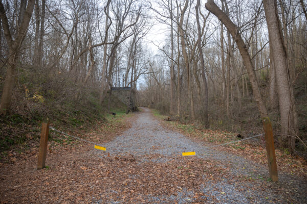 Hiking trail at Silver Mine Park in Pequea Township PA