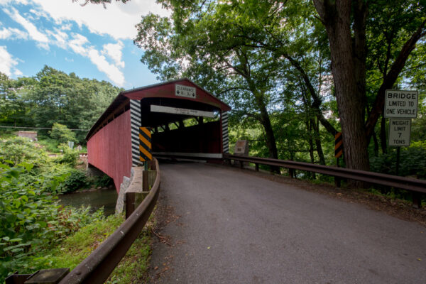 Hollingshead Covered Bridge in Catawissa PA