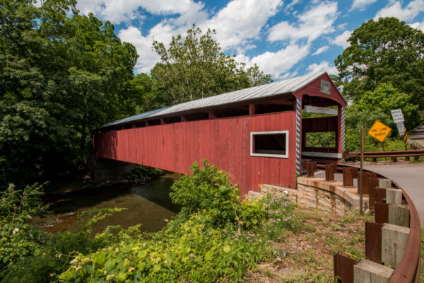 Hollingshead Covered Bridge in Columbia County PA