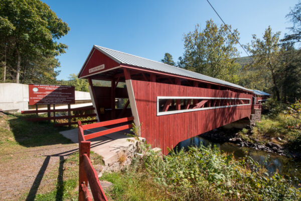 East Paden and West Paden Covered Bridges in Columbia County PA
