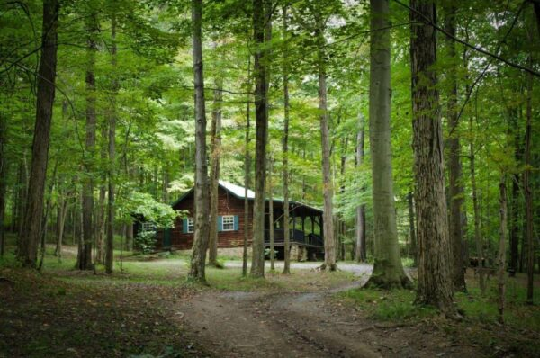Rustic cabin on Airbnb in the Laurel Highlands