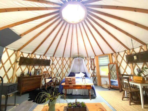 Yurt in the Poconos