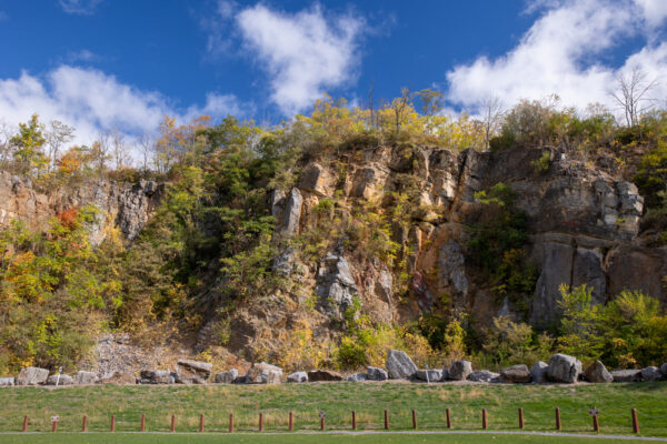 Cliffs in Chimney Rocks Park in Hollidaysburg PA