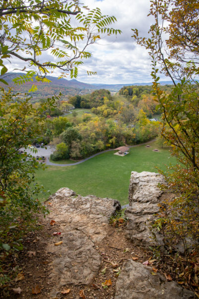 View from the cliffs in Chimney Rock Park in Hollidaysburg PA