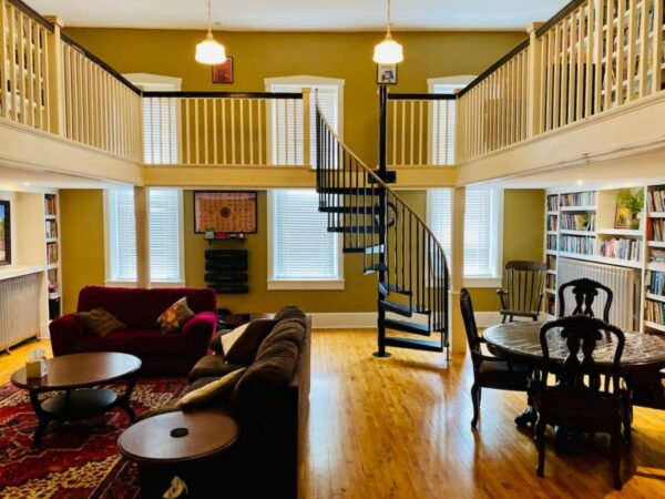 Firehouse Library Airbnb in Elizabethtown Pennsylvania