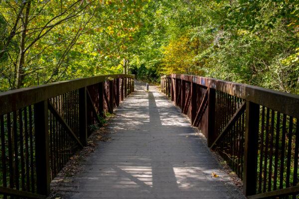 Bridge over Nine Mile Run in Frick Park in Pittsburgh PA