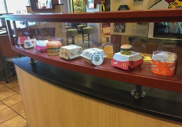 Big Mac wrappers at the Big Mac Museum in North Huntingdon PA