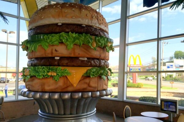Giant Big Mac Statue at the Big Mac Museum near Pittsburgh PA