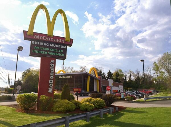 Outside the Big Mac Museum along Route 30 in North Huntingdon, PA