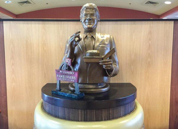 Statue of Big Mac-creator Jim Delligatti at the Big Mac Museum near Irwin PA
