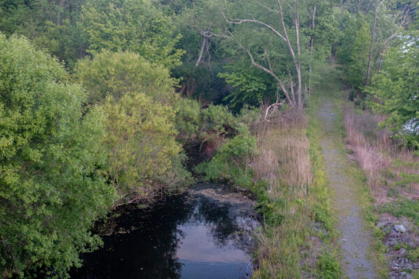 Remains of the D&H Canal in Lackawaxen PA