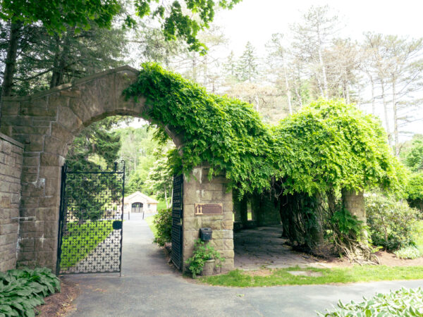 Entrance to the Sunken Gardens at Mount Assisi in Cambria County PA