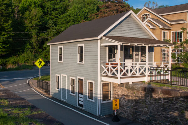 Tollhouse at Roebling's Bridge in Minisink Ford New York