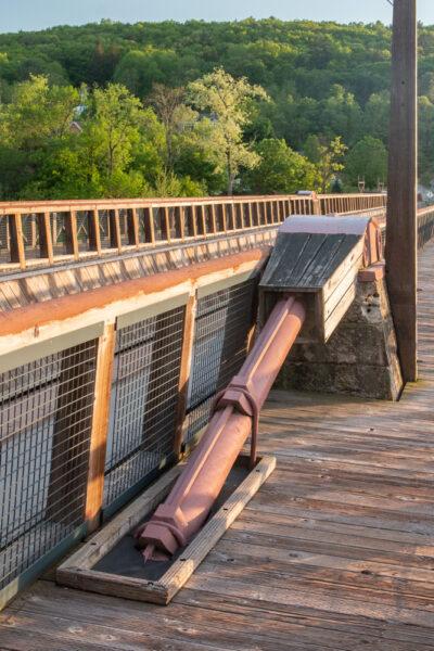 Suspension structure at Roebling's Bridge in the Poconos