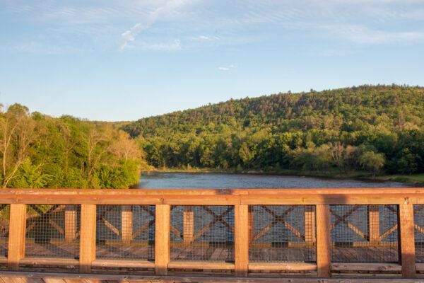 Delaware River in Minisink Ford New York