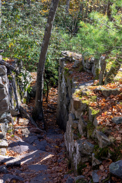 Boulders alongside the Shades of Death Trail in PA's Hickory Run State Park