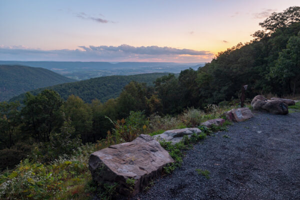 Sunset from Big Valley Vista in Bald Eagle State Forest