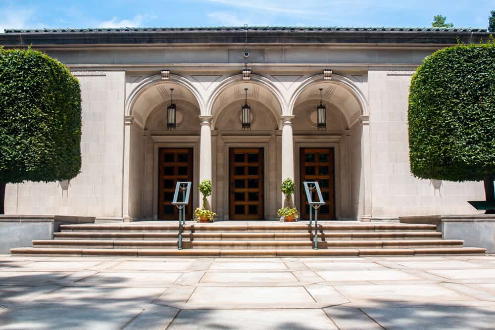 The exterior of the Frick in Pittsburgh PA
