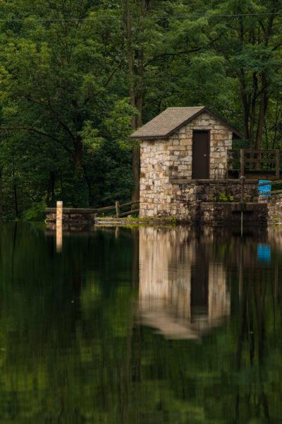 Lake at Greenwood Furnace State Park in PA