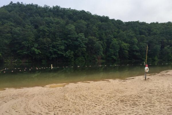 A closer look at the beach at Greenwood Furnace State Park near State College PA