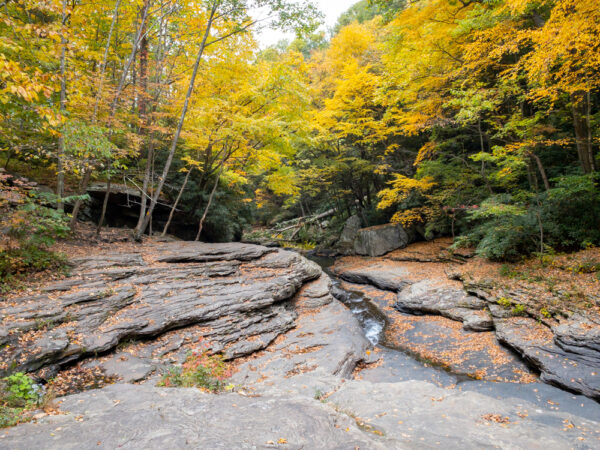 Natural Waterslides on Meadow Run in Ohiopyle State Park