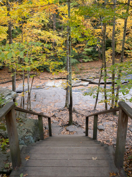 Stairs to Natural Waterslides in Ohiopyle State Park