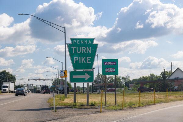Carlisle entrance to the Pennsylvania Turnpike