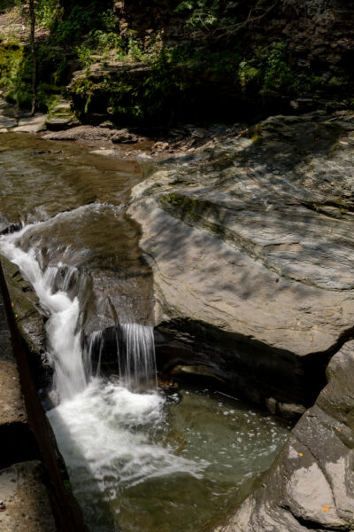 Waterfall at the Seldom Seen Greenway in Pittsburgh PA