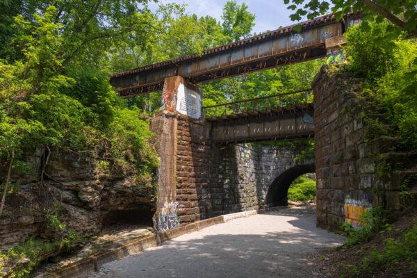 Bridges at the Beechview Seldom Seen Greenway in Allegheny County PA