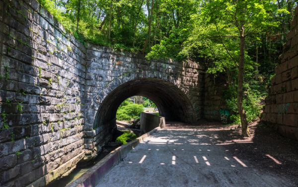 The Arch Tunnel at Seldom Seen Greenway in Pitsburgh PA