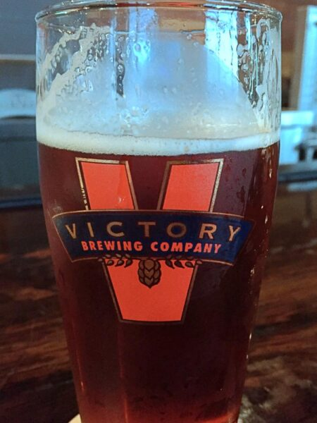 Glass of beer Victory Brewing Company in Downingtown Pennsylvania