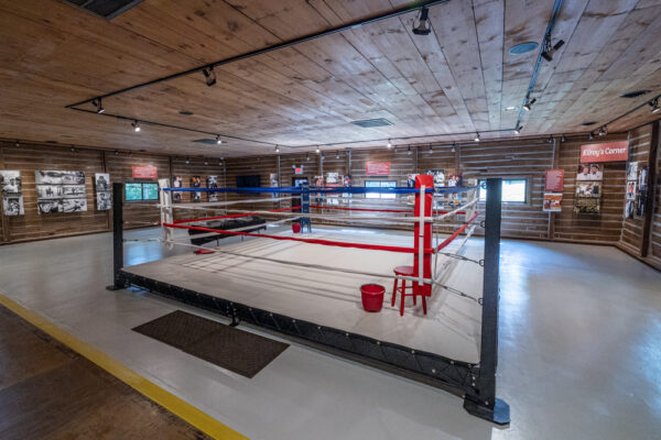 Boxing Ring at Muhammed Ali's Fighter's Heaven in Deer Lake PA