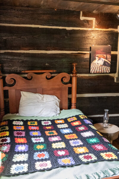 The bed in Muhammad Ali's Cabin at Fighter's Heaven in Deer Lake PA