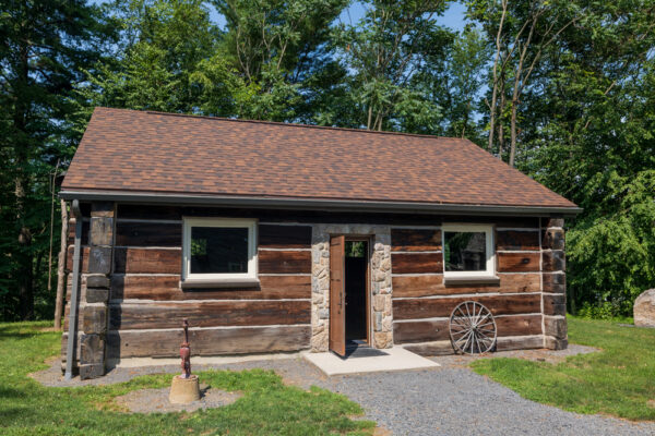 The exterior of Muhammad Ali's cabin at Fighter's Heaven in Orwigsburg, PA