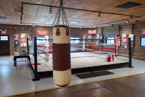 Muhammad Ali's boxing gym at Fighter's Heaven in Deer Lake PA