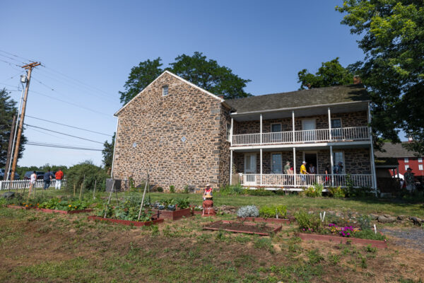 The exterior of the Daniel Lady Farmhouse in Gettysburg PA