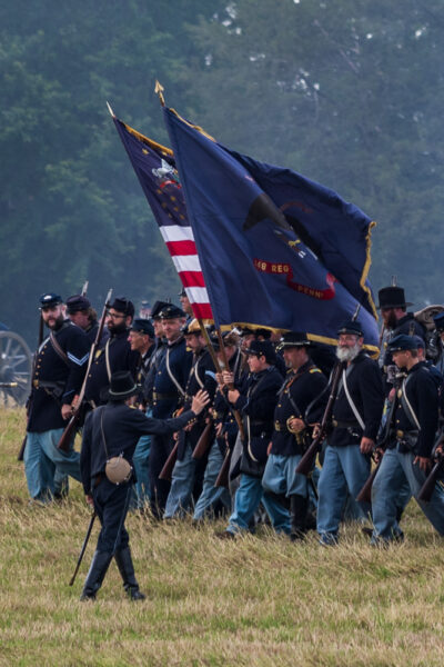 Civil War reenactors at Gettysburg PA