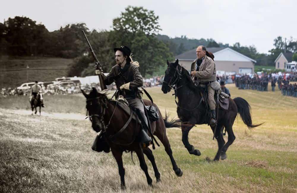 Calvary during the Gettysburg Reenactment