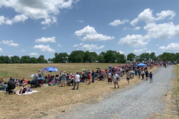 Spectators at the Reenactment of the Battle of Gettysburg