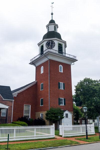 A historic church in Old Economy Village in Ambridge PA