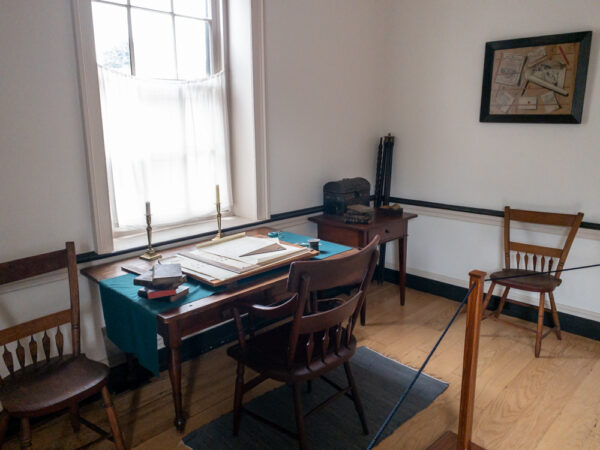 An office in the home of Johann Georg Rapp at Old Economy Village in PA