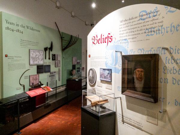 Museum displays at Old Economy Village in Ambridge PA