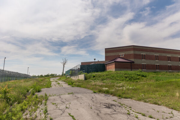Entrance to the abandoned SCI Cresson Prison in PA