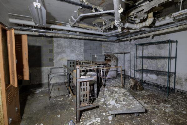Ruins inside SCI Cresson