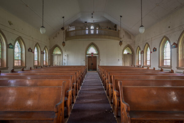 Inside Grace Chapel at SCI Cresson in the Allegheny Mountains