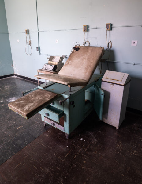 Doctor's chair at the Abandoned Cresson State Prison in PA