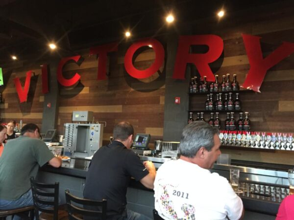 Inside Victory's taproom in Kennett Square, PA.